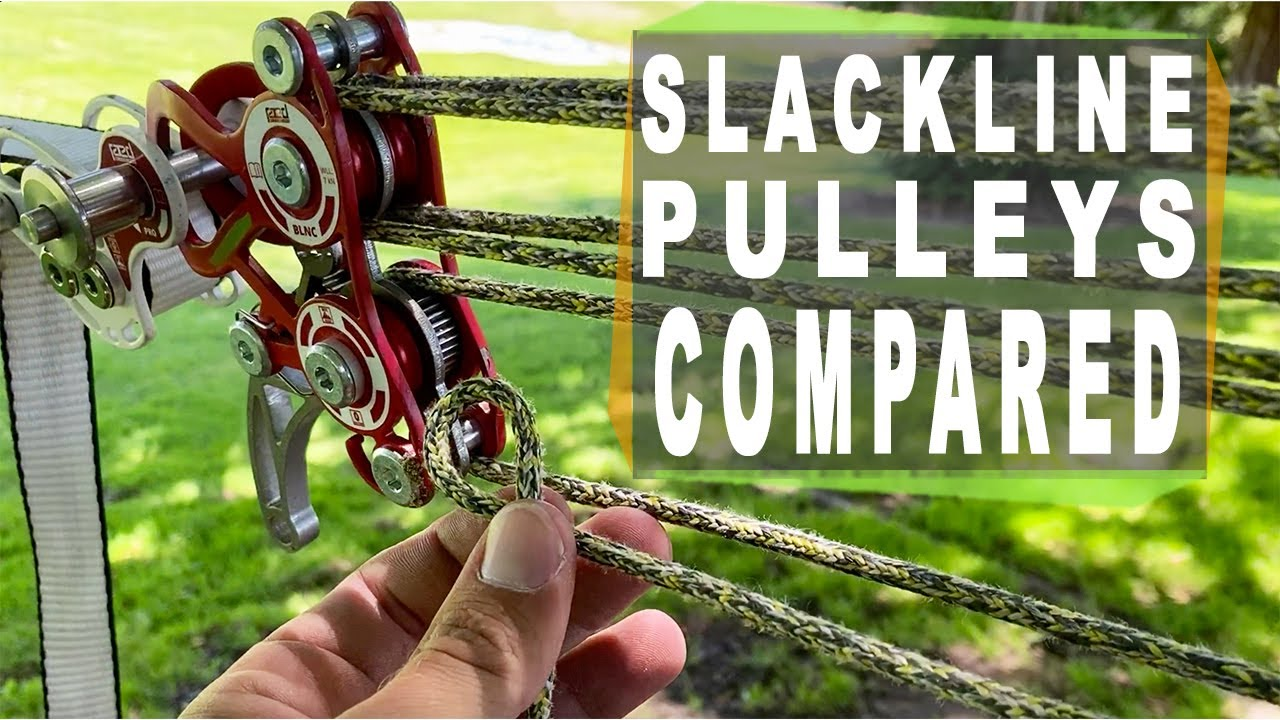 Slackline pulley efficiency comparison by HowNotToHighline