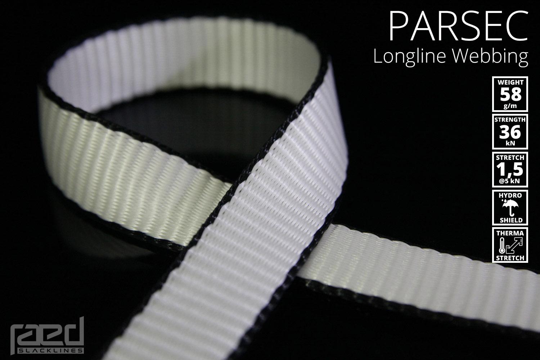 Parsec longline webbing: updated specs