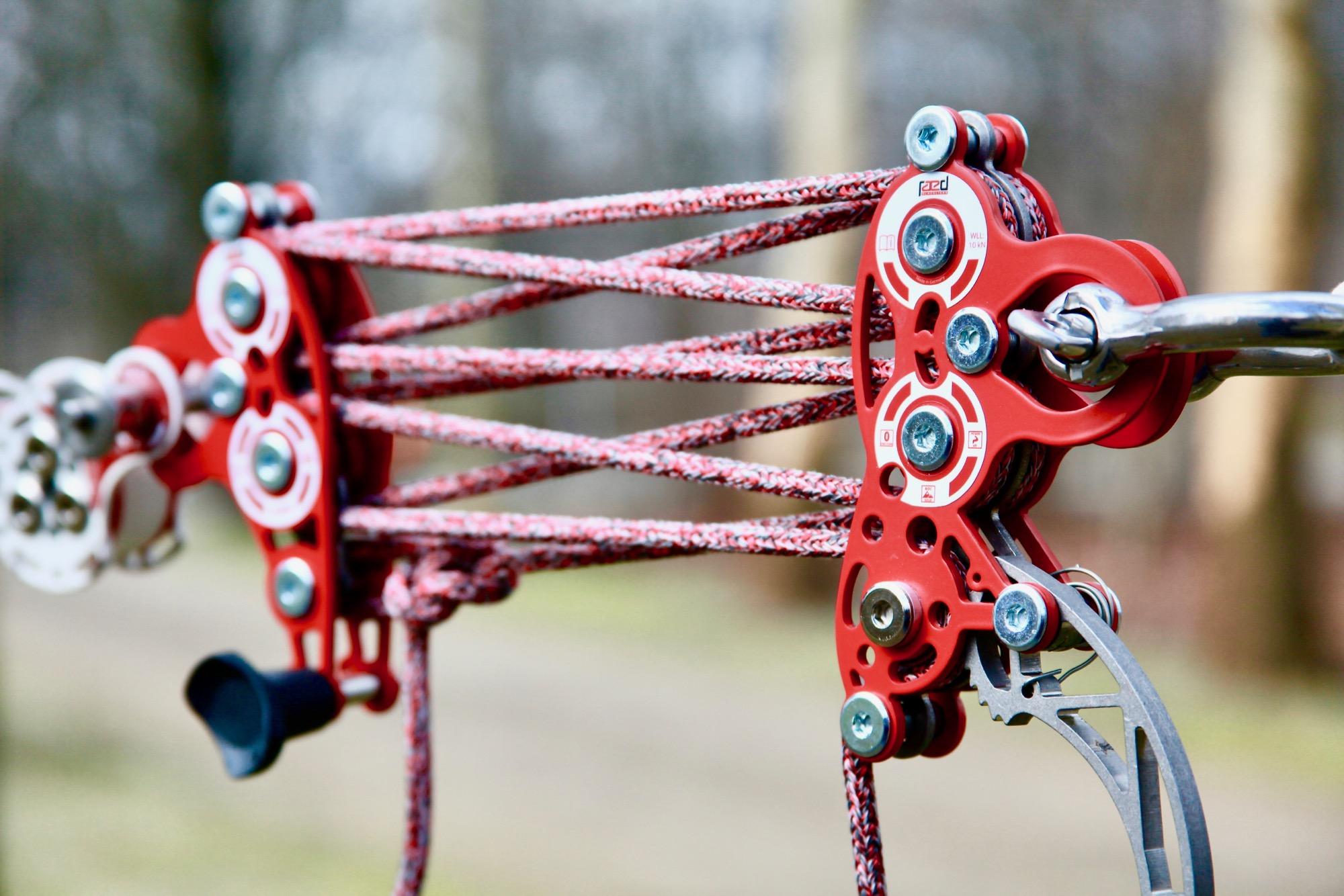 BLNC 9:1 slackline pulley system