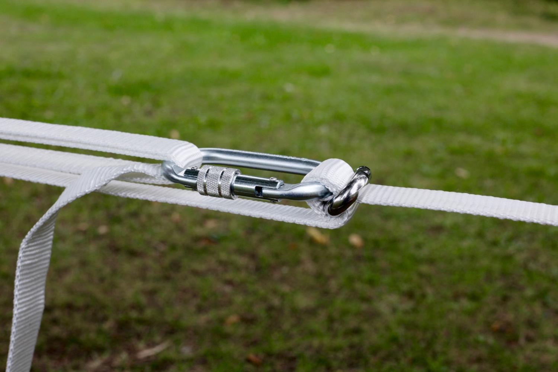 Primitive Slackline Ellington pulley system