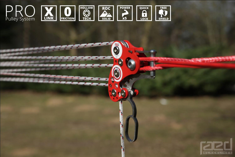 PRO slackline pulley system