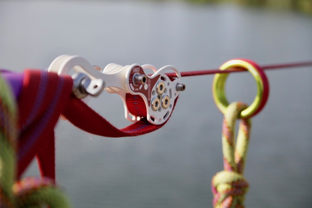 PRO Slackline pulley system shackle adapter