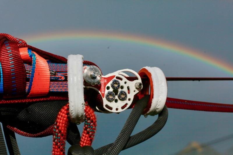 a rainbow, a weblock and motm webbing